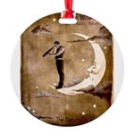 Psychic Wizardry, Man on the Moon Print Round Orna