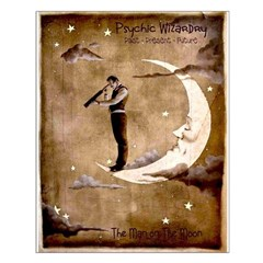 Psychic Wizardry, Man on the Moon Print Small Poster
