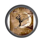 Psychic Wizardry, Man on the Moon Print Wall Clock