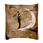 Psychic Wizardry, Man on the Moon Print Woven Thro