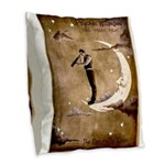 Psychic Wizardry, Man on the Moon Print Burlap Thr