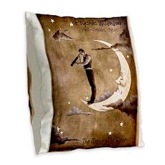 Psychic Wizardry, Man on the Moon Print Burlap Thr