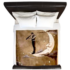 Psychic Wizardry, Man on the Moon Print King Duvet