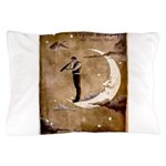Psychic Wizardry, Man on the Moon Print Pillow Cas
