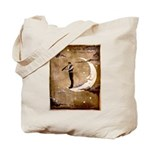 Psychic Wizardry, Man on the Moon Print Tote Bag
