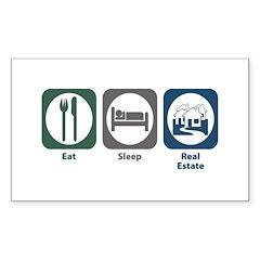 Eat Sleep Real Estate Rectangle Sticker 10 pk)