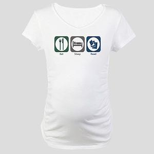 Eat Sleep Read Maternity T-Shirt
