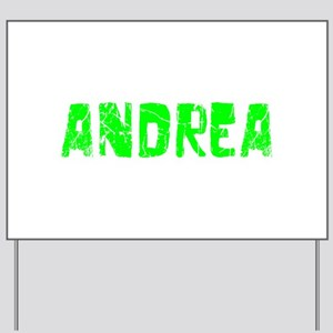 Andrea Faded (Green) Yard Sign