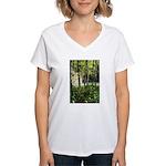 Eel River at Ravencliff Women's V-Neck T-Shirt