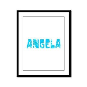 Angela Faded (Blue) Framed Panel Print