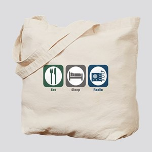 Eat Sleep Radio Tote Bag