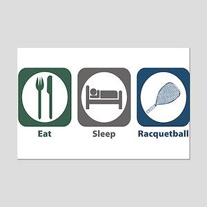Eat Sleep Racquetball Mini Poster Print