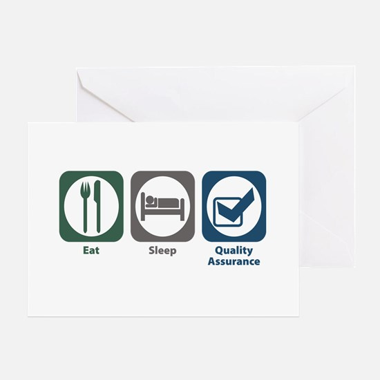 Eat Sleep Quality Assurance Greeting Card