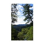 Eel River from the cliff Rectangle Sticker