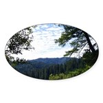 Eel River from the cliff Oval Sticker
