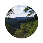 Eel River from the cliff Ornament (Round)