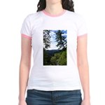 Eel River from the cliff Jr. Ringer T-Shirt