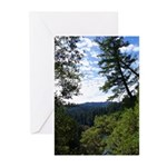 Eel River from the cliff Greeting Cards (Pk of 10)
