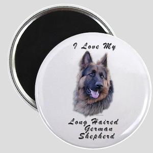 Long Haired German Shepherd Magnet