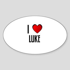 I LOVE LUKE Oval Sticker
