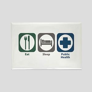 Eat Sleep Public Health Rectangle Magnet
