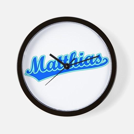 Retro Matthias (Blue) Wall Clock