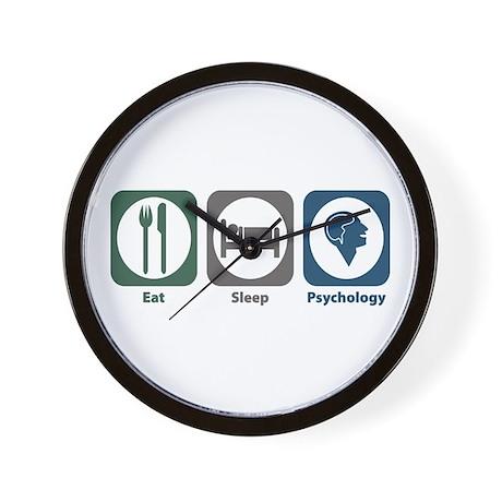 Eat Sleep Psychology Wall Clock