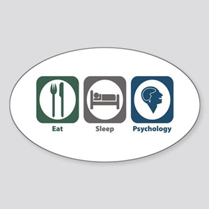 Eat Sleep Psychology Oval Sticker