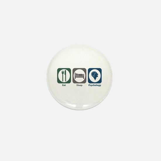 Eat Sleep Psychology Mini Button
