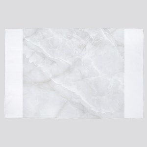 abstract modern white marble 4' x 6' Rug