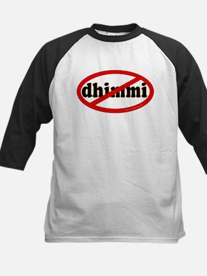 No Dhimmi Kids Baseball Jersey