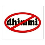 No Dhimmi Small Poster
