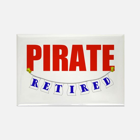 Retired Pirate Rectangle Magnet