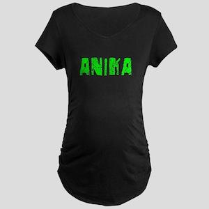 Anika Faded (Green) Maternity Dark T-Shirt