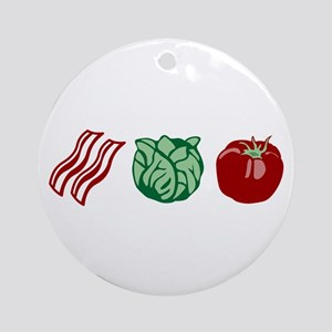 BLT Sandwich Bacon Lettuce Tomato Ornament (Round)