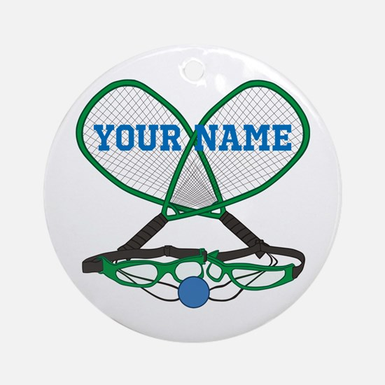 Personalized Racquetball Round Ornament