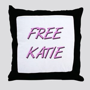 Free Katie Save Katie Throw Pillow