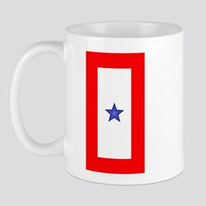 Service Member Support Blue Star Flag Mug