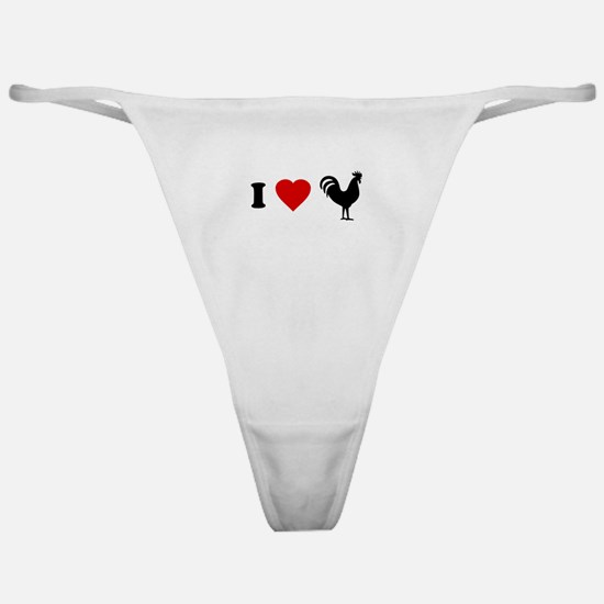 I Love [Heart] Cock Classic Thong