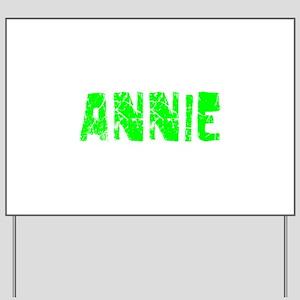 Annie Faded (Green) Yard Sign