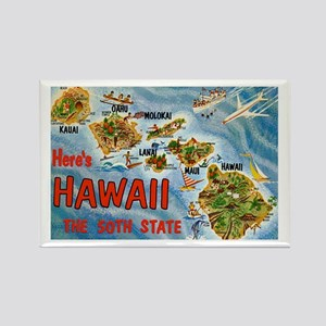 Hawaii Postcard Rectangle Magnet