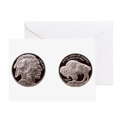 Silver Indian-Buffalo Greeting Card