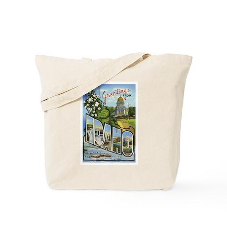 Idaho Postcard Tote Bag