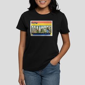 Illinois Postcard Women's Dark T-Shirt