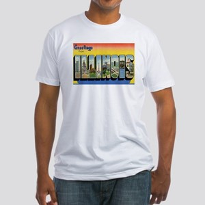 Illinois Postcard Fitted T-Shirt