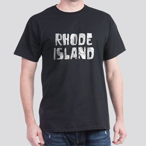 Rhode Island Faded (Silver) Dark T-Shirt