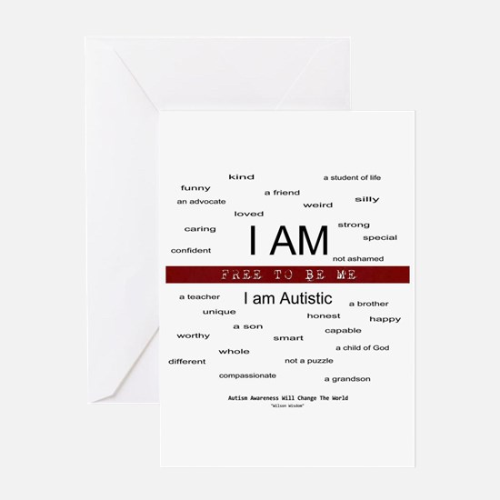 Autism ~ Free to be me Greeting Card