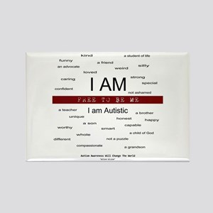 Autism ~ Free to be me Rectangle Magnet