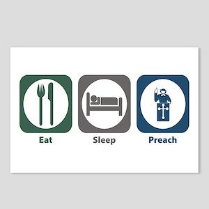 Eat Sleep Preach Postcards (Package of 8)