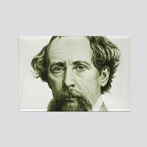 Charles Dickens Rectangle Magnet